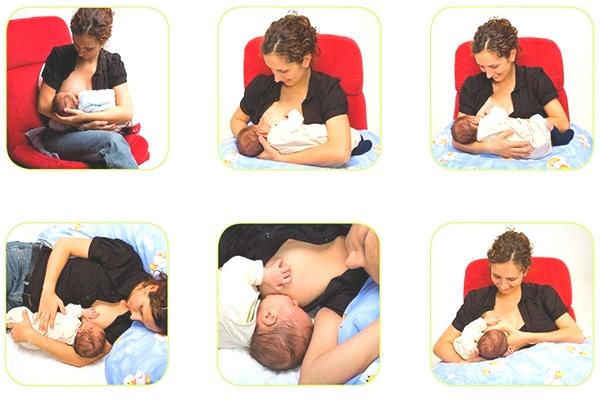 Як тримати немовляти під час годування грудьми